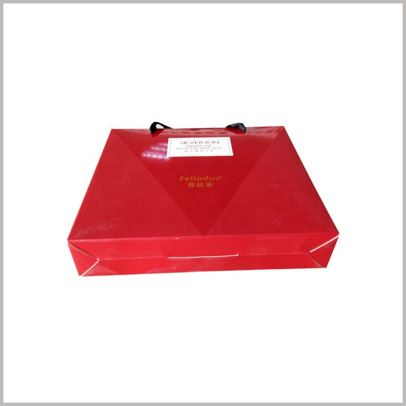 custom red shampoo packaging box wholesale