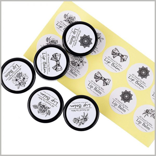 custom round labels for lip balm.The printed content of the lip balm label is differentiated, which has a differentiated publicity effect for different products.