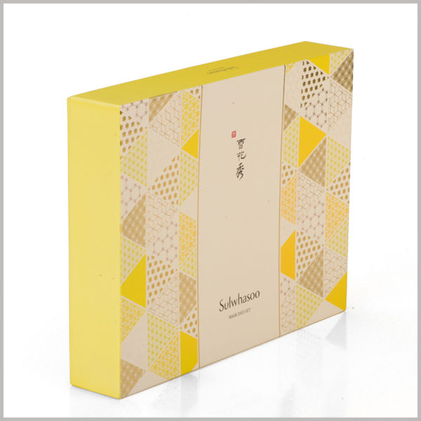 custom skin care packaging boxes set,According to the needs of product promotion, the brand information and product information are printed on the surface of the box.