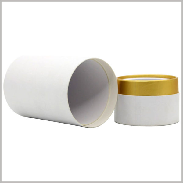 custom white cardboard tube packaging for perfume boxes, Custom packaging will make the product and packaging match perfectly.