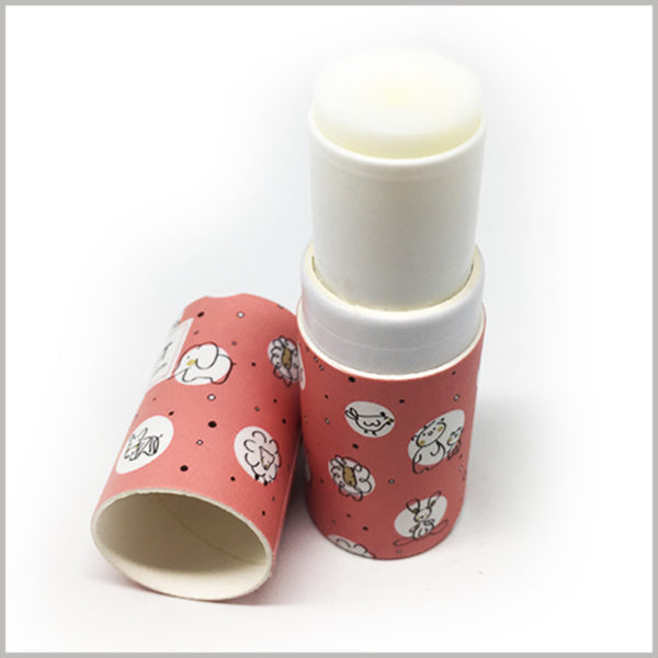 eco friendly paper lip balm tubes wholesale.The paper tube is made of 350gsm white cardboard as the raw material. The inner tube and incision of the lip balm paper tube are pure white, which has good visual sense.