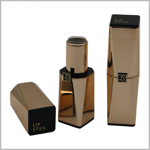 empty gold lipstick tubes