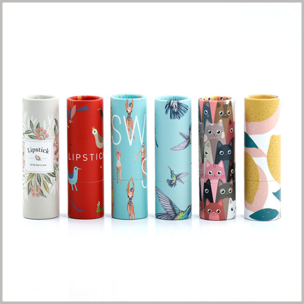 empty paper lipstick tube packaging wholesale,Custom paper tubes can be printed with specific content to highlight product differentiation and characteristics