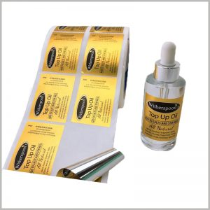 gold foil labels for essential oil. Customized labels are waterproof and oil resistant, which improves the durability of the labels and is more conducive to long-term product promotion.