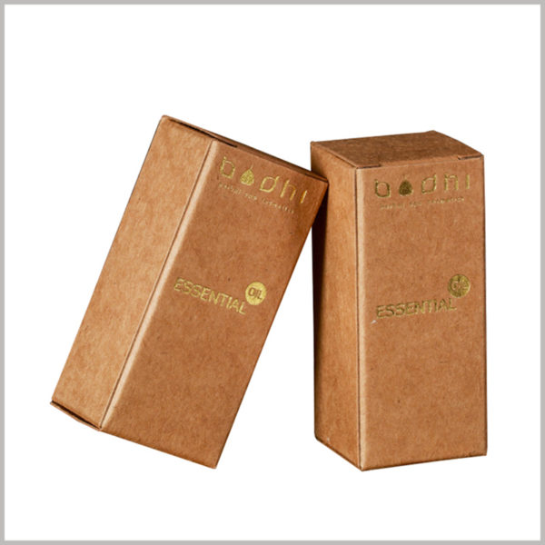 kraft paper packaging for essential oil boxes, Biodegradable brown kraft paper as a raw material for custom packaging.