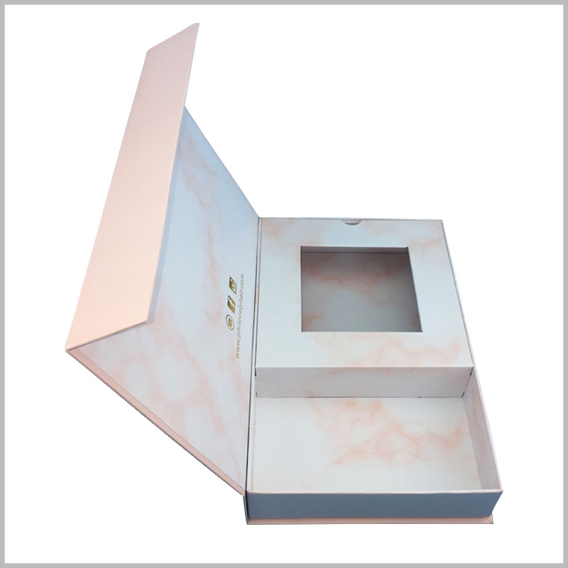 Custom large cardboard boxes for weave hair packaging box. The pink packaging boxes are durable, have good impact resistance, and improve the protection of wig products.
