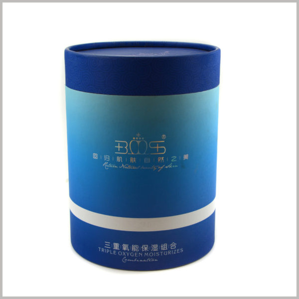 large diameter paper tubes packaging for Moisturizing skincare boxes.The stylish tube packaging design combines product elements and trend elements to increase the appeal of packaging and products to consumers.