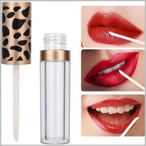 lip gloss tube with Leopard Print