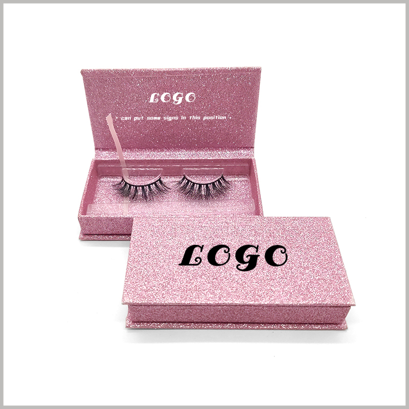 Custom pink cardboard boxes for eyelash packaging.The pink cardboard boxes packaging is cute and has a strong appeal for many female consumers.