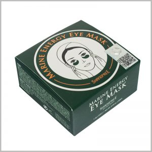 printable small square skin care boxes for eye mask packaging.The main pattern of custom packaging is the use of eye masks, and it is embodied in the form of animation.