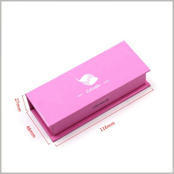 red liquid lipstick packaging boxes for single bottle. The size of the lip gloss packaging is 116mm×48mm×27mm, which is of reference value. However, we will still provide customizable packaging based on the characteristics of the product.