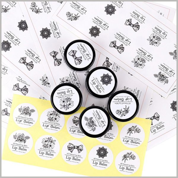 round printable labels for lip balm.The customized lip balm label has a good promotional effect for the product.