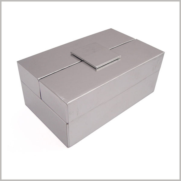 cusstom high-end silver cardboard gift boxes packaging wholesale