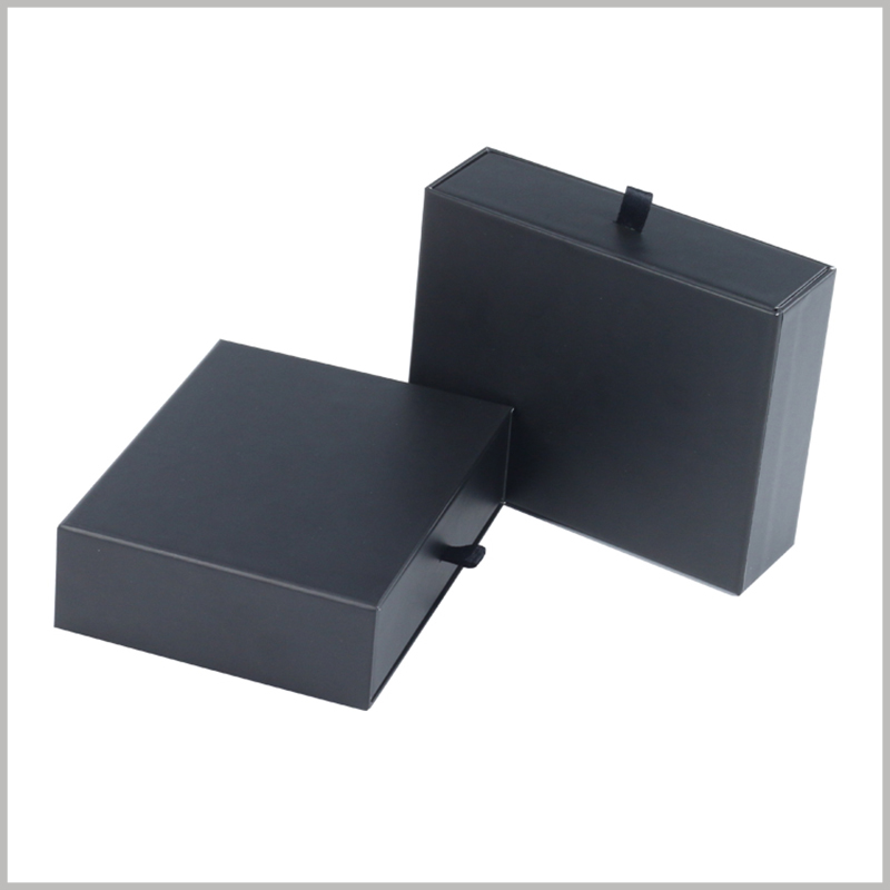 Custom small black cardboard boxes packaging wholesale,Relevant information can be printed on the surface of the package to increase the uniqueness of the package.