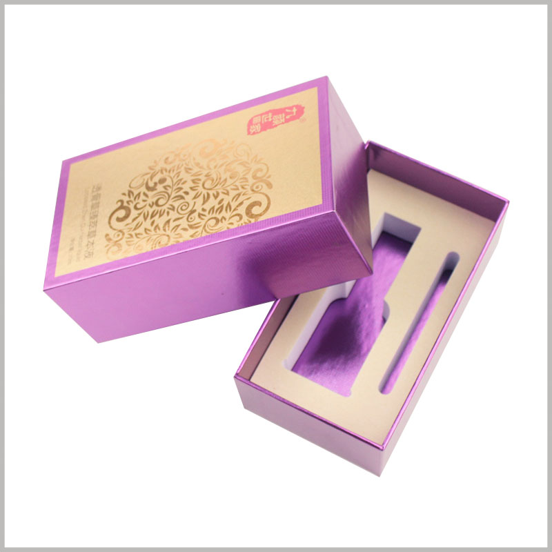 small cardboard boxes for essential oil packaging. The included size, color, pattern and other information can be fully customized so that the box can perfectly match the essential oil product.
