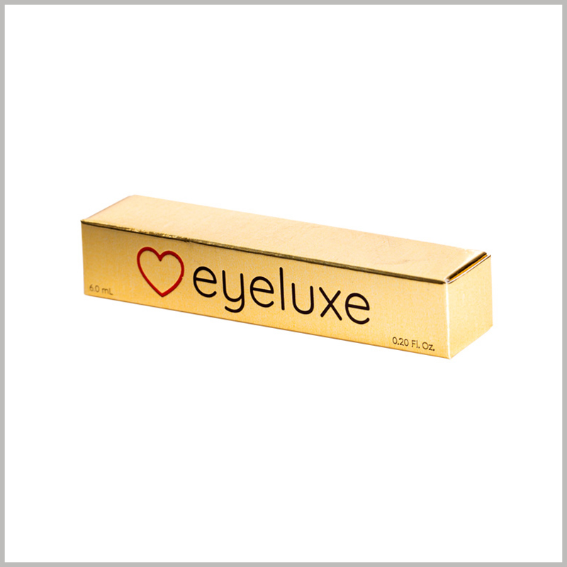 "small gold boxes for lip gloss packaging. The golden square box is like a ""gold bar"", which attracts customers' attention and enhances the value of the product from the color."