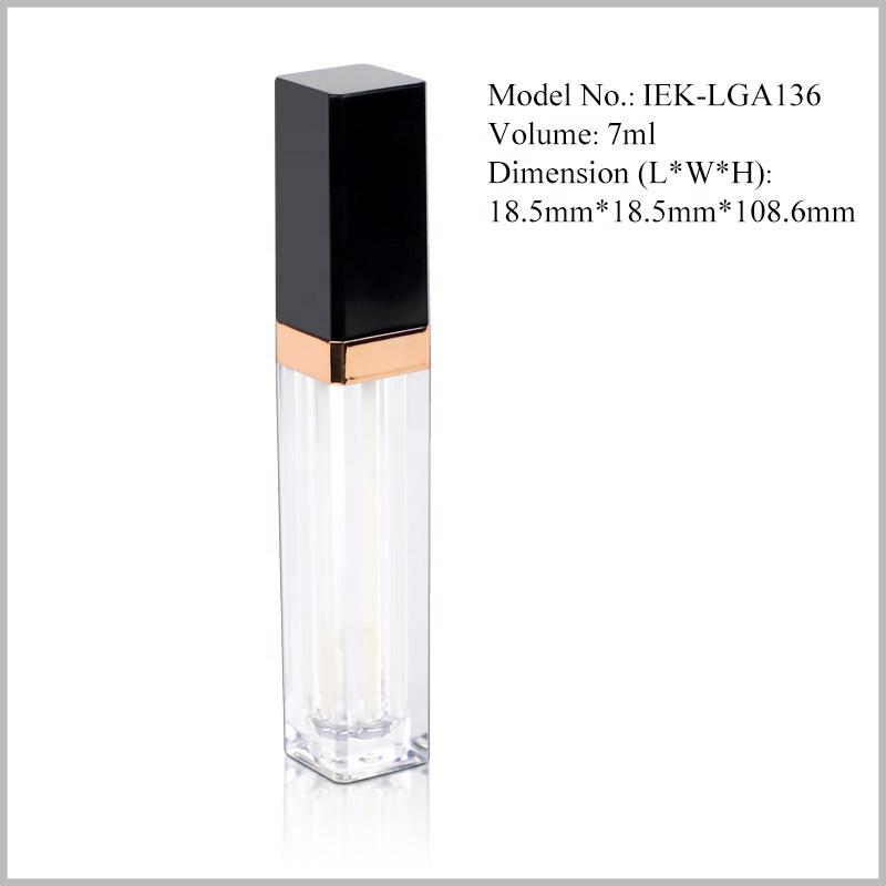 small lip gloss tubes bottles with Lipbrush