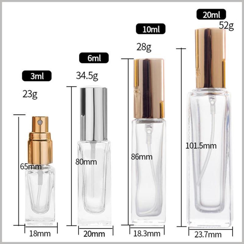 small perfume spray bottles custom