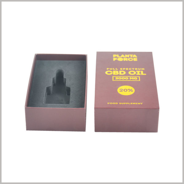 Custom small rectangle gift boxes for CBD essntial oil packaging.Handmade gift boxes have the right hardness and thickness and play an important role in product promotion.