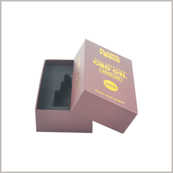 small rectangle gift boxes for essntial oil packaging.The package design structure allows the top cover and base to be completely separated, and the way to open the package is easy.