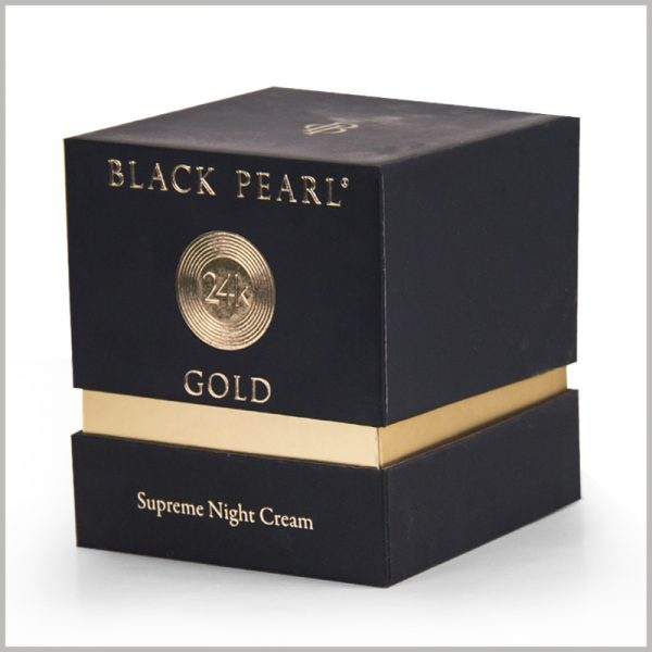 Custom small square cardboard boxes for night cream packaging.Exquisite product packaging has added value to the product, so that the value of the product can be better reflected.