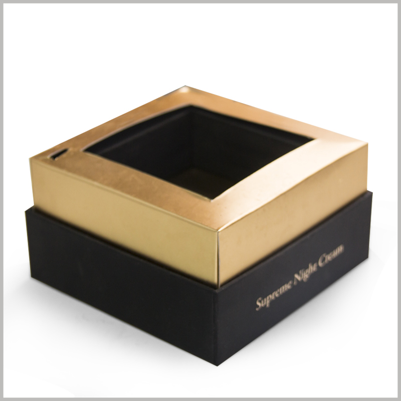 small square cardboard boxes with insert card,The tray formed by gold cardboard can effectively fix the product and protect the value of the product.