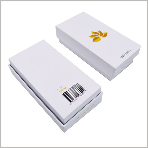 Custom small white cardboard boxes with lids wholesale,Printed product packaging for essential oil products