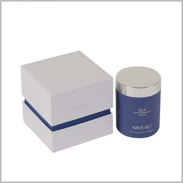 square cosmetic jar packaging boxes. The compact packaging structure conforms to the concept of environmental protection, avoids the waste of packaging materials, and is more conducive to reducing costs.