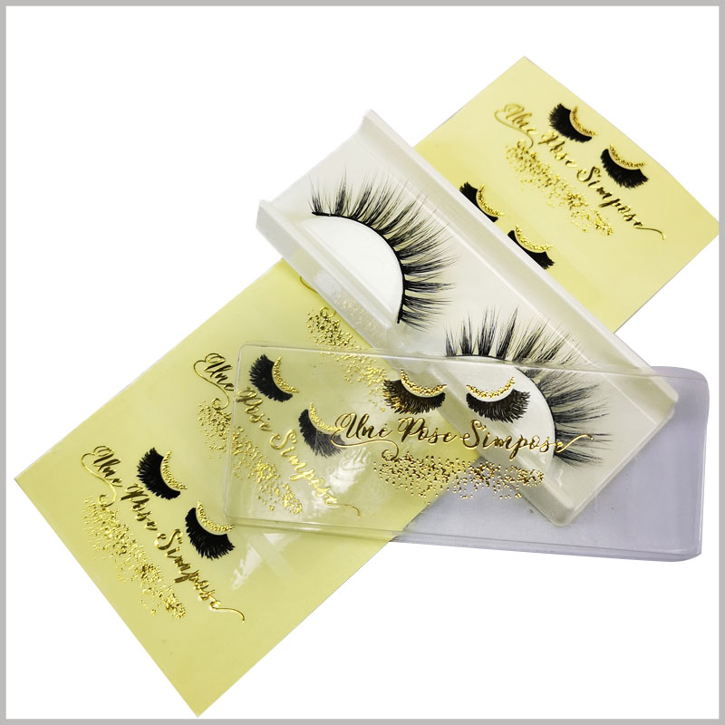 stamping printing label for fake eyelash box. The label of false eyelashes packaging can be customized in size and printed content to fully adapt to product promotion.