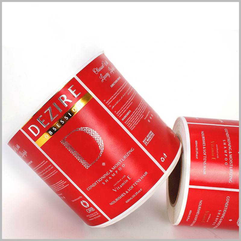 waterproof paper labels for shampoo bottles. The customized shampoo label has high water and oil resistance and is very durable.