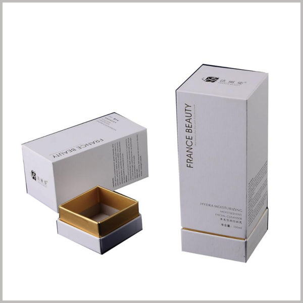 custom white cardboard boxes for 100ml face lotion packaging, Detailed product information can be printed on the package, and consumers can quickly understand the product by themselves.