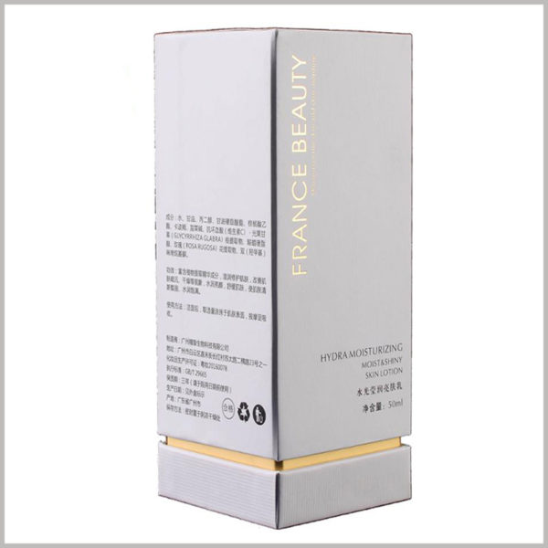 white cardboard boxes for 50ml face lotion packaging, The volume of skin care products printed on the front of the product packaging is more conducive to consumers to directly judge the information.