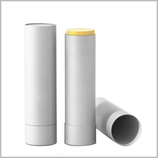 Custom white cardboard deodorant tubes packaging without printed. The inner side of the paper tube packaging has the characteristics of vegetable wax which can resist oil and waterproof, and effectively extend the service life of the product.