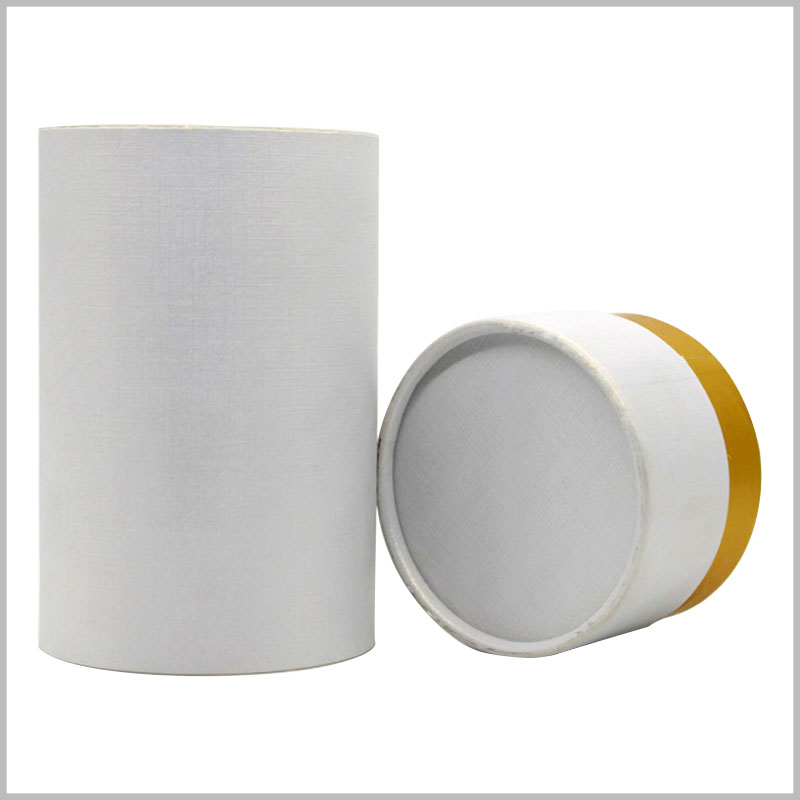 white cardboard tube packaging boxes, Fine-grained paper is used as the laminated paper of the paper tube to improve the width of the paper tube.