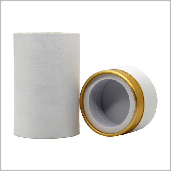 white cardboard tube packaging with eva insert. The base of the perfume tube packaging EVA is a good way to fix the perfume glass bottle to keep the perfume stable.
