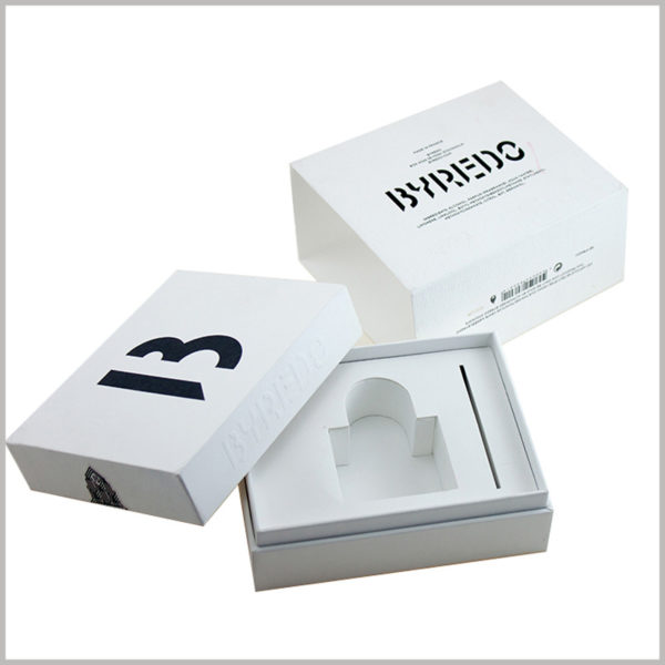 white small cardboard gift boxes for perfume packaging.The packaging design of perfume boxes is compact without leaving too much wasteful space, effectively avoiding the waste of resources.