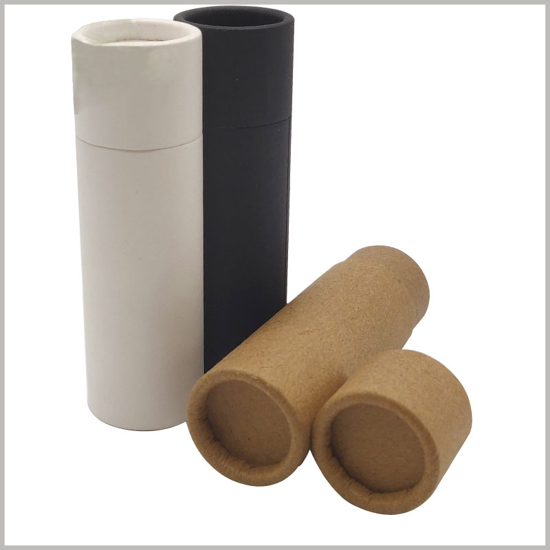 wholesale cardboard deodorant tubes packaging without printed. There are many types of paper tube packaging available, including white, brown or black.