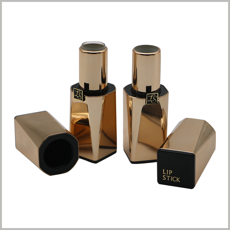 wholesale empty gold lipstick tubes.This lipstick tube is inlaid with magnets. The moment when the lipstick cap is opened or closed