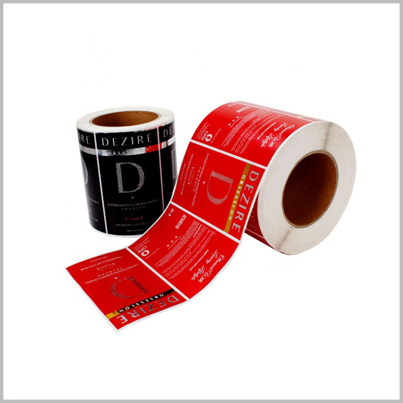 wholesale waterproof labels for shampoo bottles. Customized paper labels can be used for shampoo bottles, and the label printing content is determined by the product.