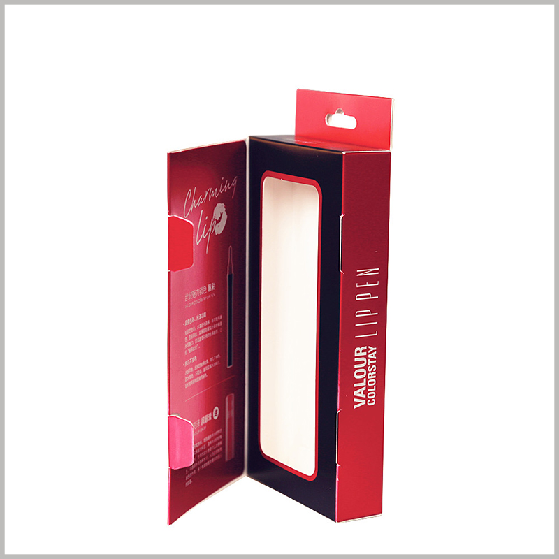 wholesale Lip gloss and lip balm set box packaging. The customized lip gloss packaging uses a layered structure, which is of great help to the customization of product promotion.
